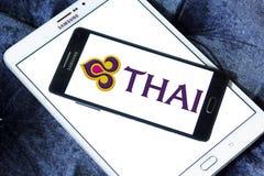 Logotipo de Thai Airways imágenes de archivo libres de regalías