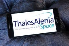 Logotipo de Thales Alenia Space Fotos de archivo libres de regalías