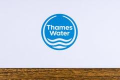 Logotipo de Thames Water Imagen de archivo libre de regalías