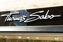Logotipo de THOMAS SABO Fotografía de archivo libre de regalías