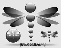 Logotipo de tiragem da empresa ilustração stock