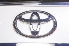 Logotipo de Toyota en el tope foto de archivo libre de regalías