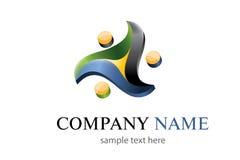 Logotipo de três cores Foto de Stock Royalty Free