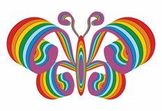 Logotipo de una mariposa iridiscente Fotos de archivo