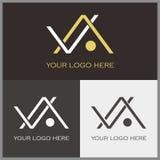 Logotipo de v e de A Imagem de Stock