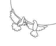 Logotipo de voo de dois pombos Fotografia de Stock Royalty Free
