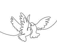 Logotipo de voo de dois pombos Fotos de Stock Royalty Free