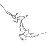 Logotipo de voo de dois pombos Imagem de Stock Royalty Free