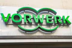 Logotipo de VORWERK en fachada Fotografía de archivo