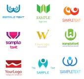 Logotipo de W da letra ilustração stock