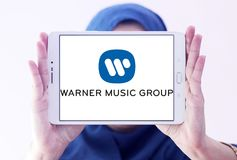 Logotipo de Warner Music Group foto de stock