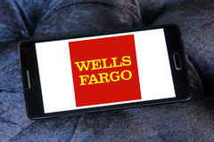 Logotipo de Wells Fargo Bank Foto de archivo