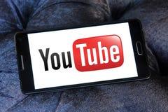 Logotipo de YouTube fotos de archivo libres de regalías