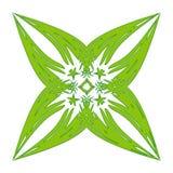 Logotipo decorativo de la hoja Fotos de archivo