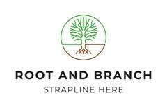 Logotipo del árbol imagen de archivo libre de regalías
