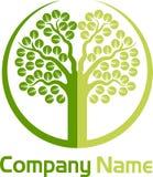 Logotipo del árbol Imagenes de archivo