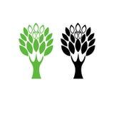 Logotipo 5 del árbol Imagen de archivo libre de regalías