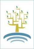 Logotipo del árbol Fotografía de archivo