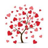 Logotipo del árbol del corazón ilustración del vector
