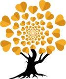 Logotipo del árbol de amor Imagen de archivo