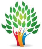 Logotipo del árbol de familia Imagen de archivo libre de regalías