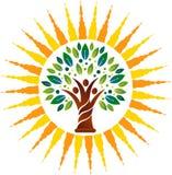 Logotipo del árbol de familia del poder stock de ilustración