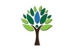 Logotipo del árbol de la gente Foto de archivo libre de regalías