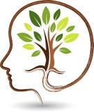 Logotipo del árbol de la mente stock de ilustración