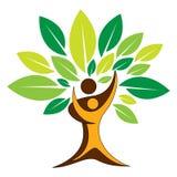 Logotipo del árbol de los pares ilustración del vector