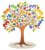 Logotipo del árbol del corazón Fotografía de archivo