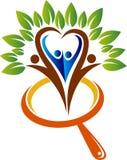 logotipo del árbol del crecimiento de la familia de la investigación libre illustration