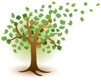 Logotipo del árbol del dinero Imágenes de archivo libres de regalías