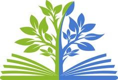 Logotipo del árbol del libro Imágenes de archivo libres de regalías