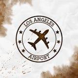 Logotipo del aeropuerto de Los Angeles ilustración del vector