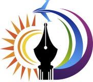Logotipo del aire de la pluma del poder Imágenes de archivo libres de regalías