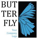 Logotipo del ala de la mariposa stock de ilustración