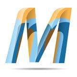 Logotipo del alfabeto de M Letter Colorful Modern Foto de archivo