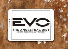 Logotipo del alimento para animales de EVO Foto de archivo