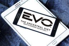Logotipo del alimento para animales de EVO Imagen de archivo libre de regalías