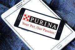Logotipo del alimento para animales de Purina Imagen de archivo libre de regalías