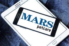 Logotipo del alimento para animales del petcare de Marte Imágenes de archivo libres de regalías