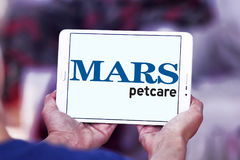 Logotipo del alimento para animales del petcare de Marte Fotos de archivo