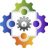Logotipo del amigo de la fábrica Fotografía de archivo