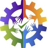 Logotipo del amigo de la fábrica del éxito Imagen de archivo