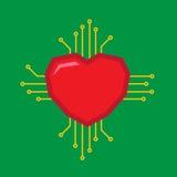 Logotipo del amor de Digitaces imagen de archivo libre de regalías