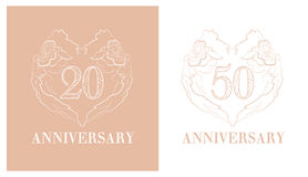 Logotipo del aniversario stock de ilustración
