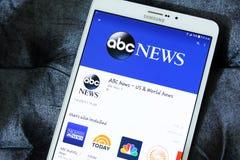 Logotipo del app de las noticias del ABC Imagen de archivo libre de regalías
