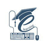 Logotipo del aprendizaje electrónico, vector libre illustration