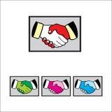 Logotipo del apretón de manos stock de ilustración