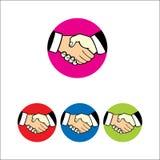 Logotipo del apretón de manos ilustración del vector